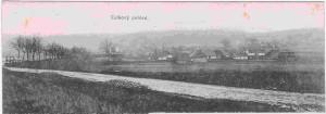 vesnička, podle níž mají Padrťské rybníky název na fotografii z roku 1910. Za poskytnutí snímku děkujeme Michaelu Řeháčkovi