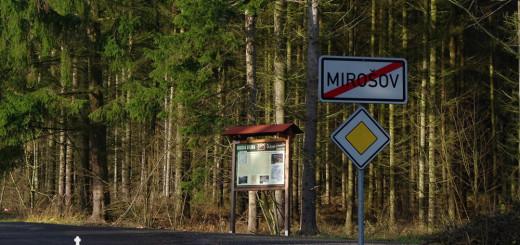 Druhá naučná tabule NS Za černým diamantem na kraji Mirošova