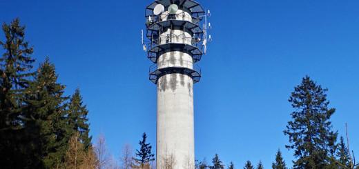 Radarová věž na Praze