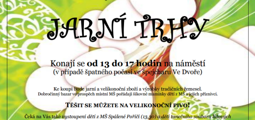 Jarní trhy ve Spáleném Poříčí, zdroj: spaleneporici.cz