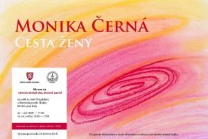 Plakát k výstavě Moniky Černé, zdroj: ctidoma.cz