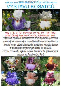 Plakát k výstavě kosatců, zdroj: spaleneporici.cz