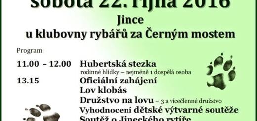 Hubertský den, zdroj: Společenské centrum Josefa Slavíka Jince