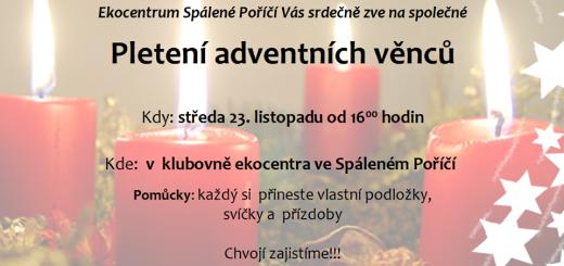 Pletení adventních věnců, zdroj: Facebook/Ekocentrum Spálené Poříčí