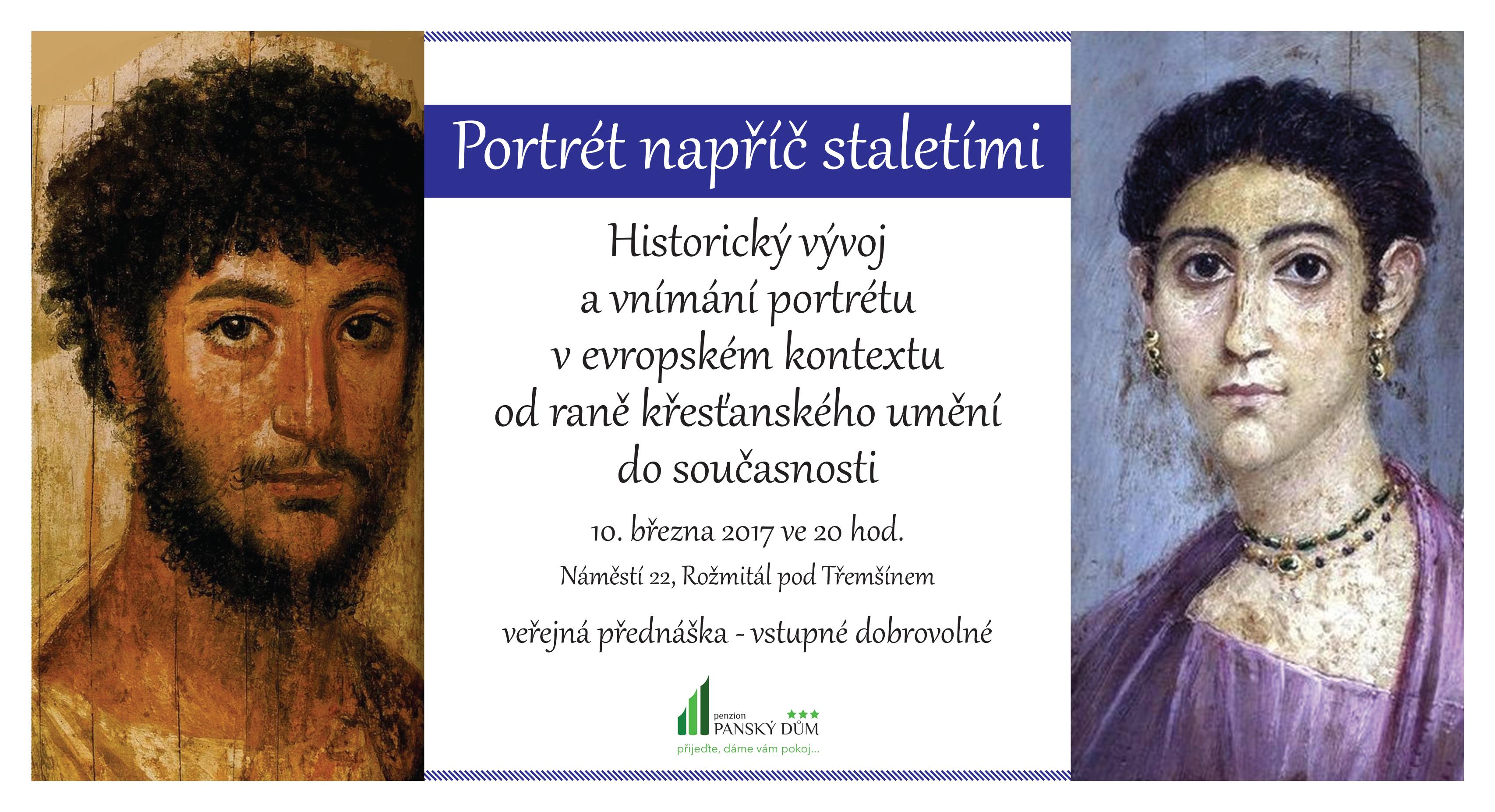 Portrét napříč staletími, přednáška. Zdroj: Panský dům Rožmitál