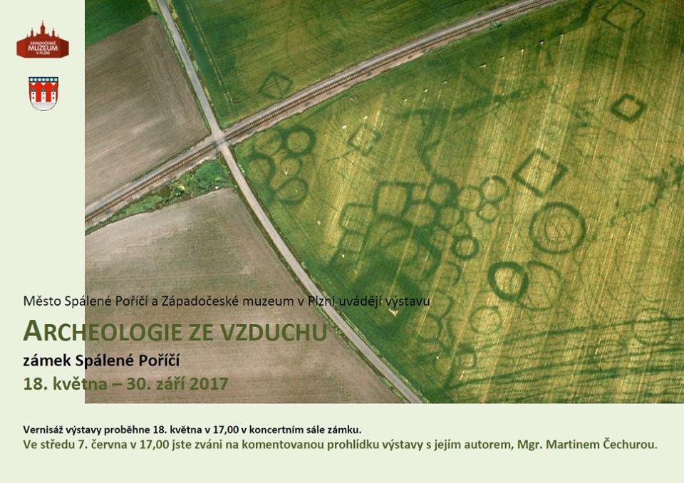 Archeologie ze vzduchu, zdroj: Spálené Poříčí (facebook)