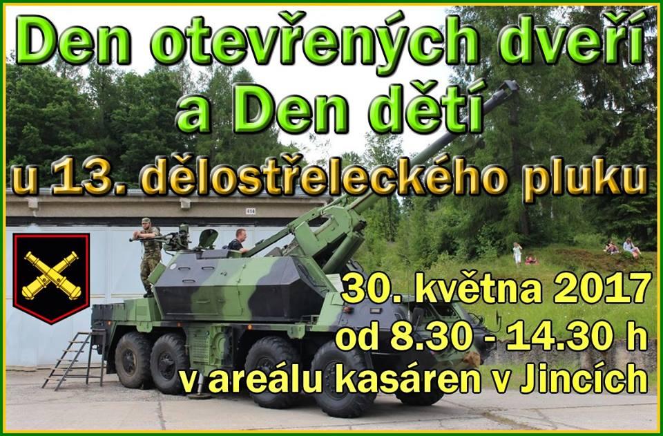 Den otevřených dveří u 13. dělostřeleckého pluku, zdroj: Společenské centrum Jindřicha Slavíka Jince (facebook)