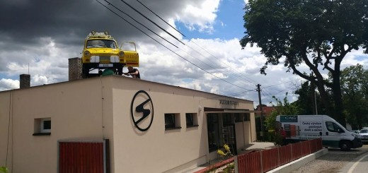 Budova Muzea žlutého cirkusu v Nové Vsi pod Pleší, foto: Trabantem napříč kontinenty (facebook)