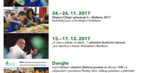 Akce penzionu Panský dům v Rožmitále pod Třemšínem naplánované na přelom roku 2017 a 2018, zdroj: Panský dům Rožmitál